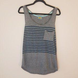 Sale!C&C California   Stripe Gray &Blue Tank [New]